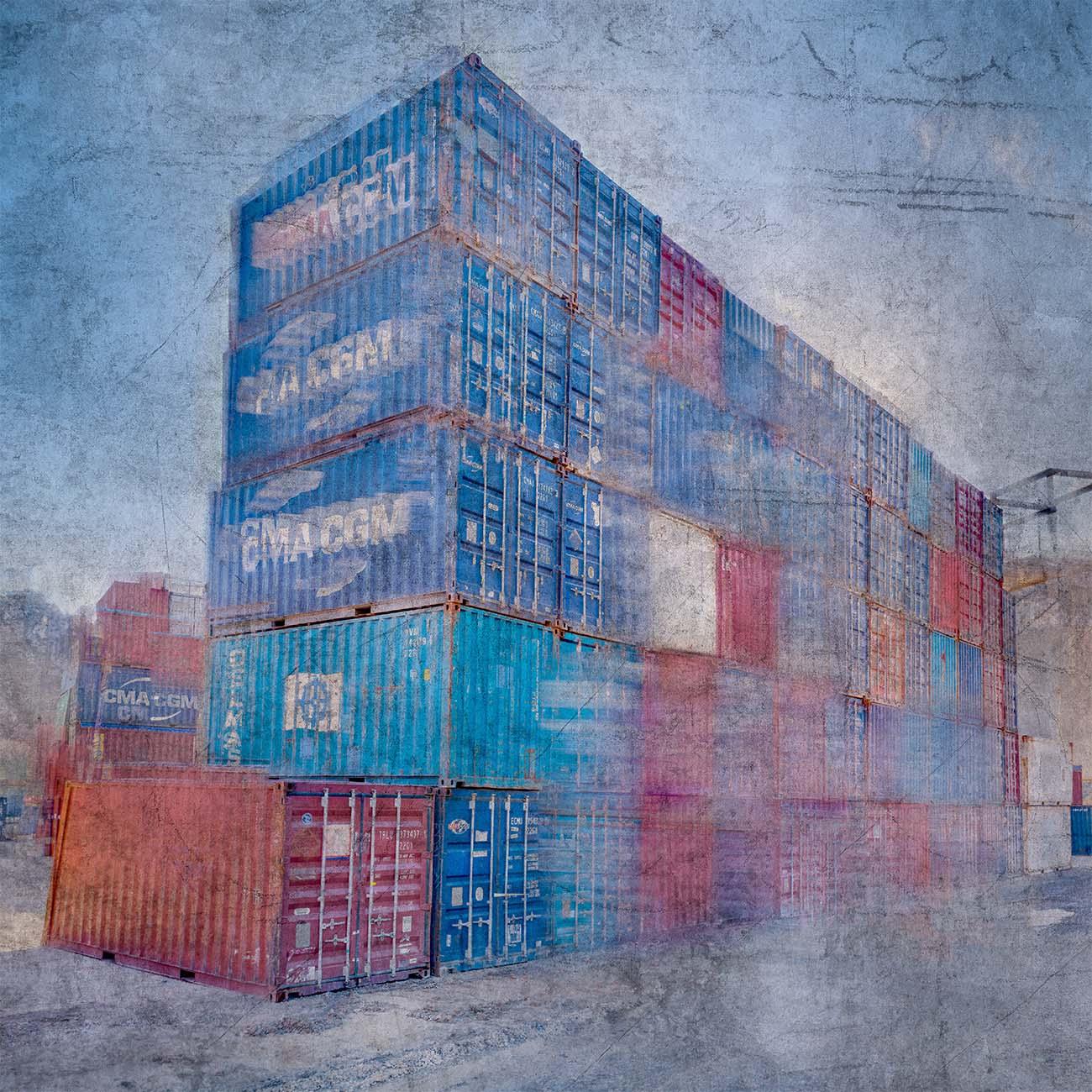 Carrière du Vallon Containers Bleu Marseille Paul-Louis LEGER Photographe