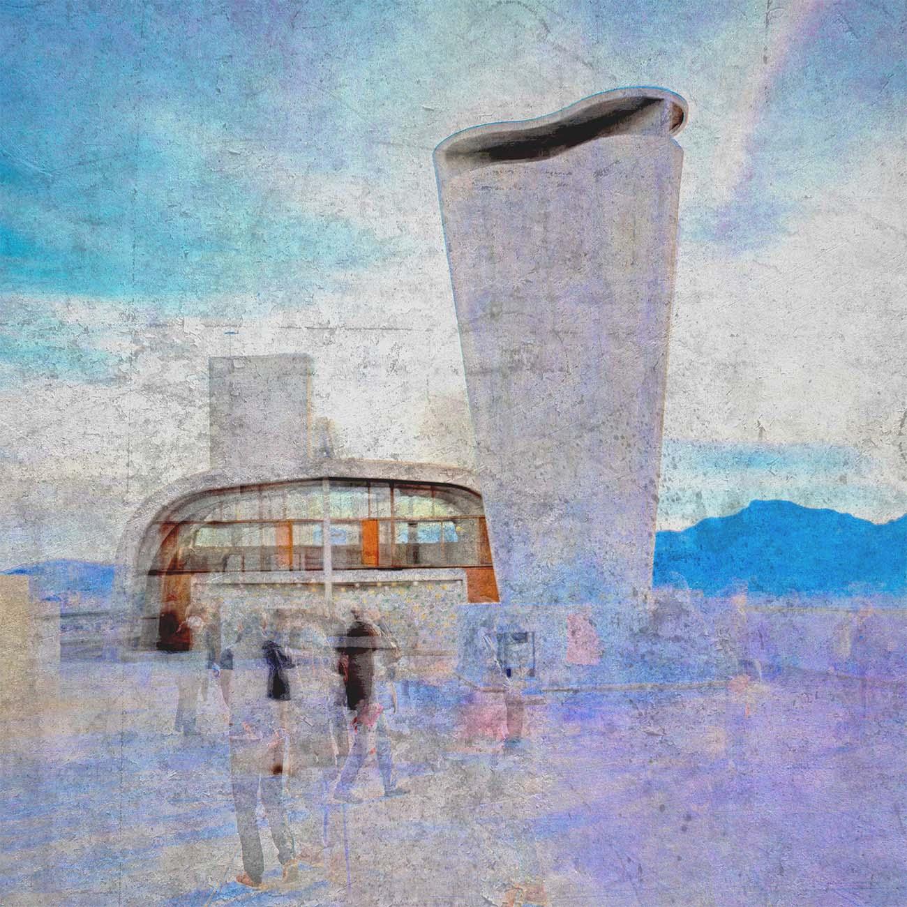 Terrasse radieuse Cité Radieuse le Corbusier Bleu Marseille Paul-Louis LEGER Photographe