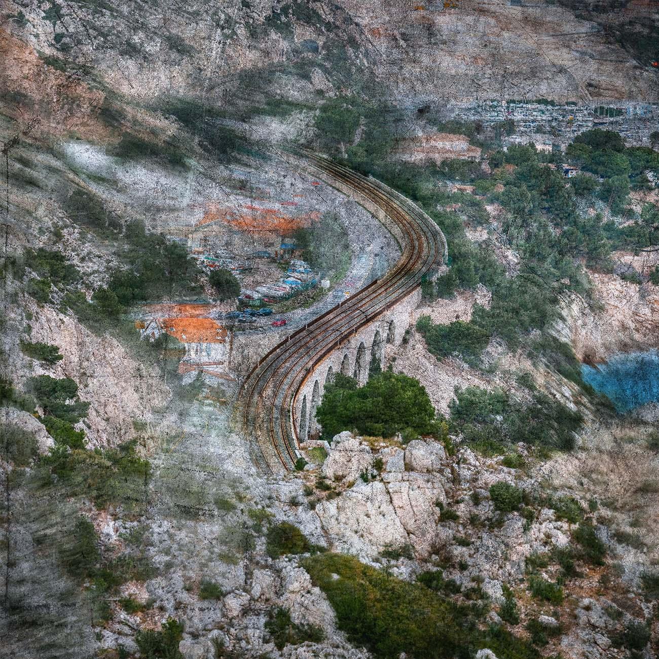 Voie ferrée Estaque Bleu Marseille Paul-Louis LEGER Photographe